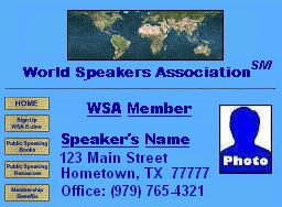 WSA Sample Website
